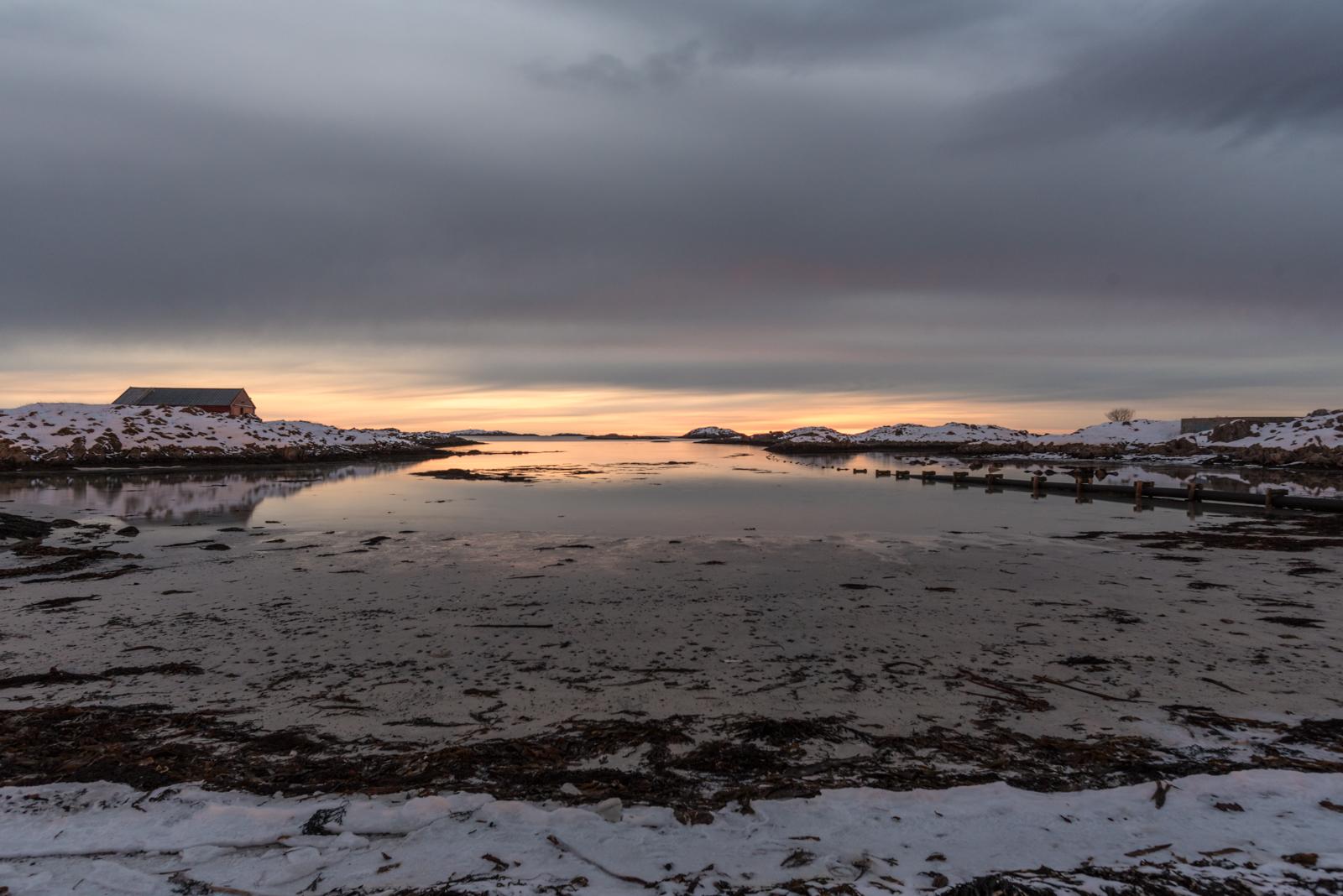 Spiaggia di Andenes al tramonto