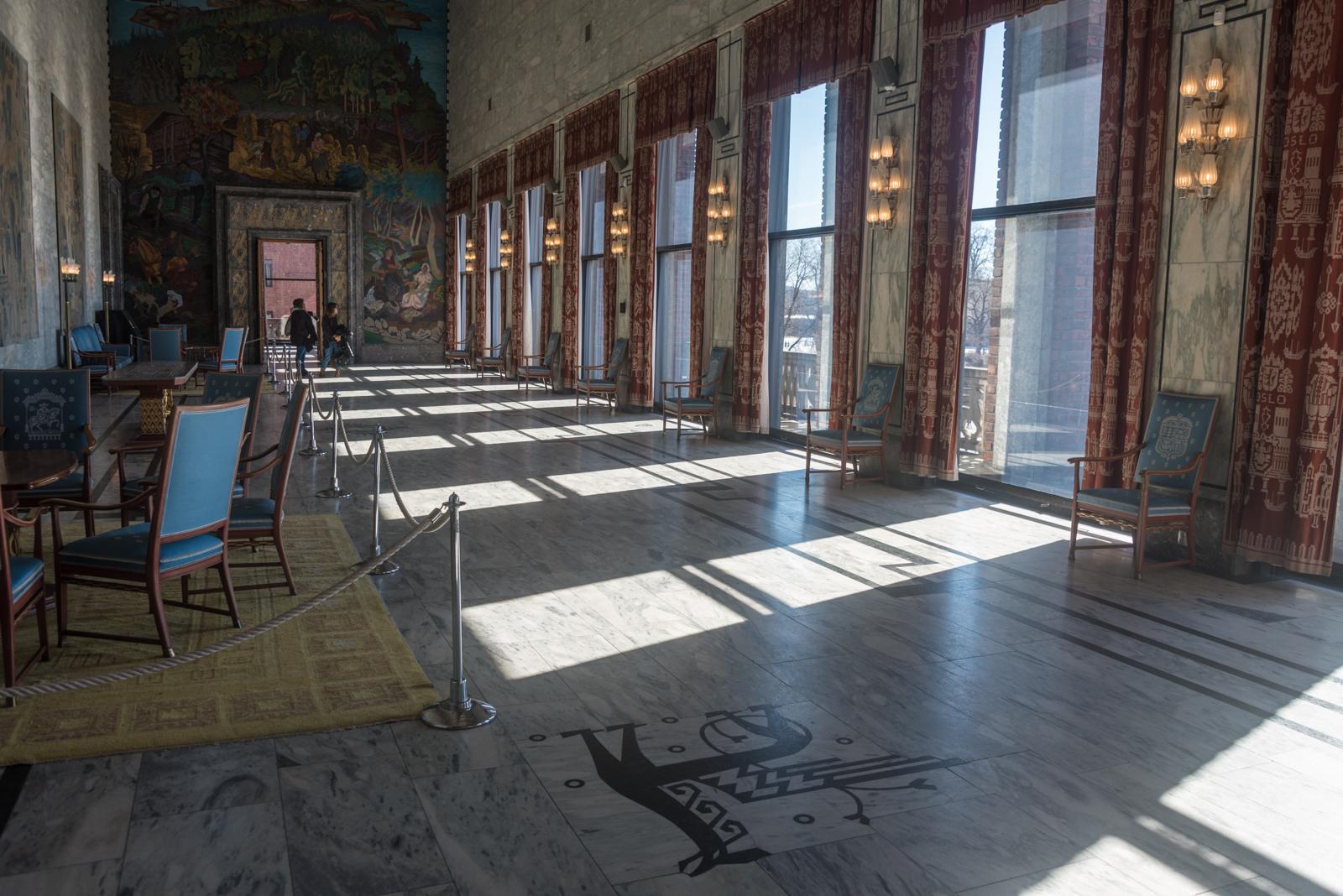 Municipio di Oslo sala interna