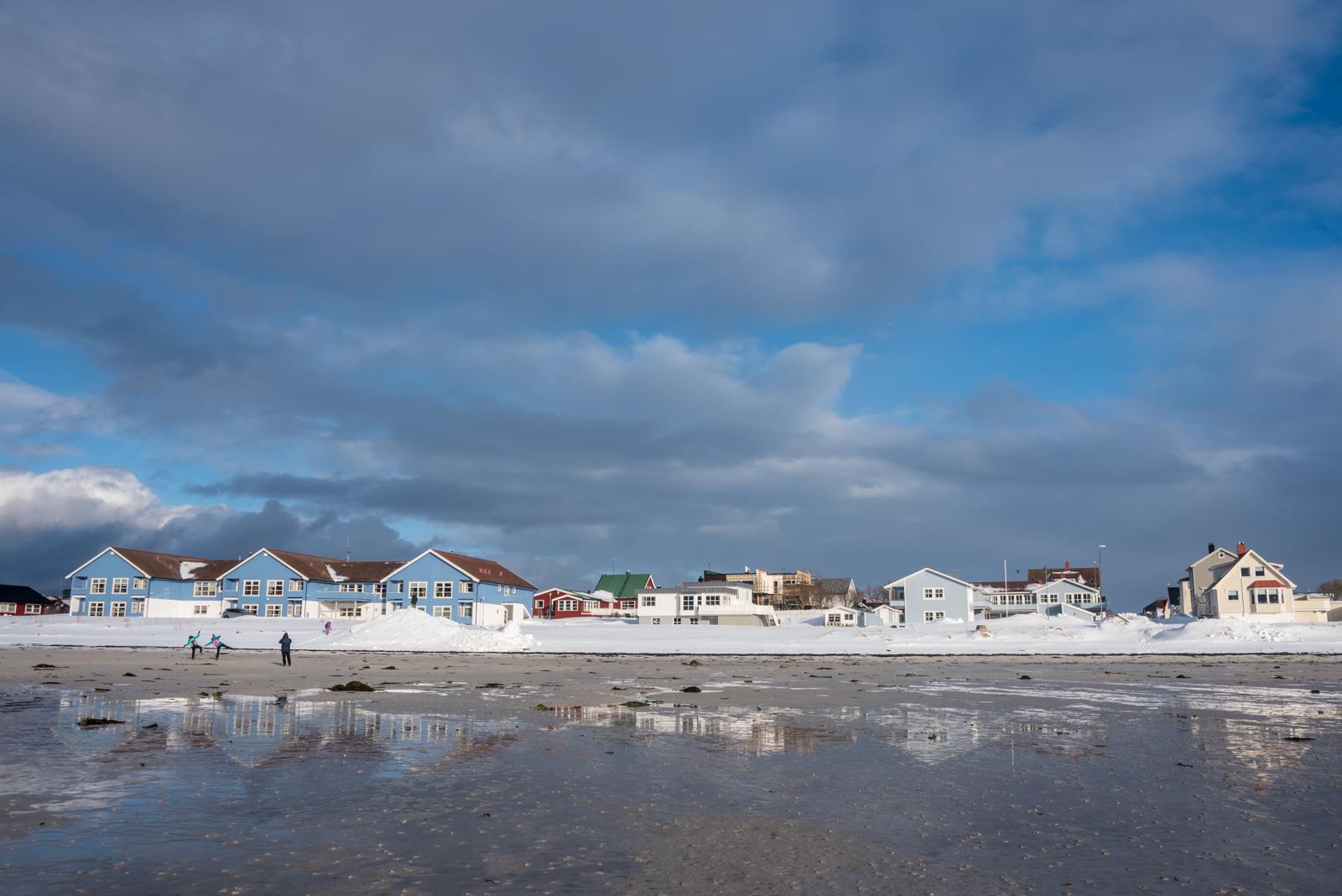 Spiaggia di Andenes con bassa marea